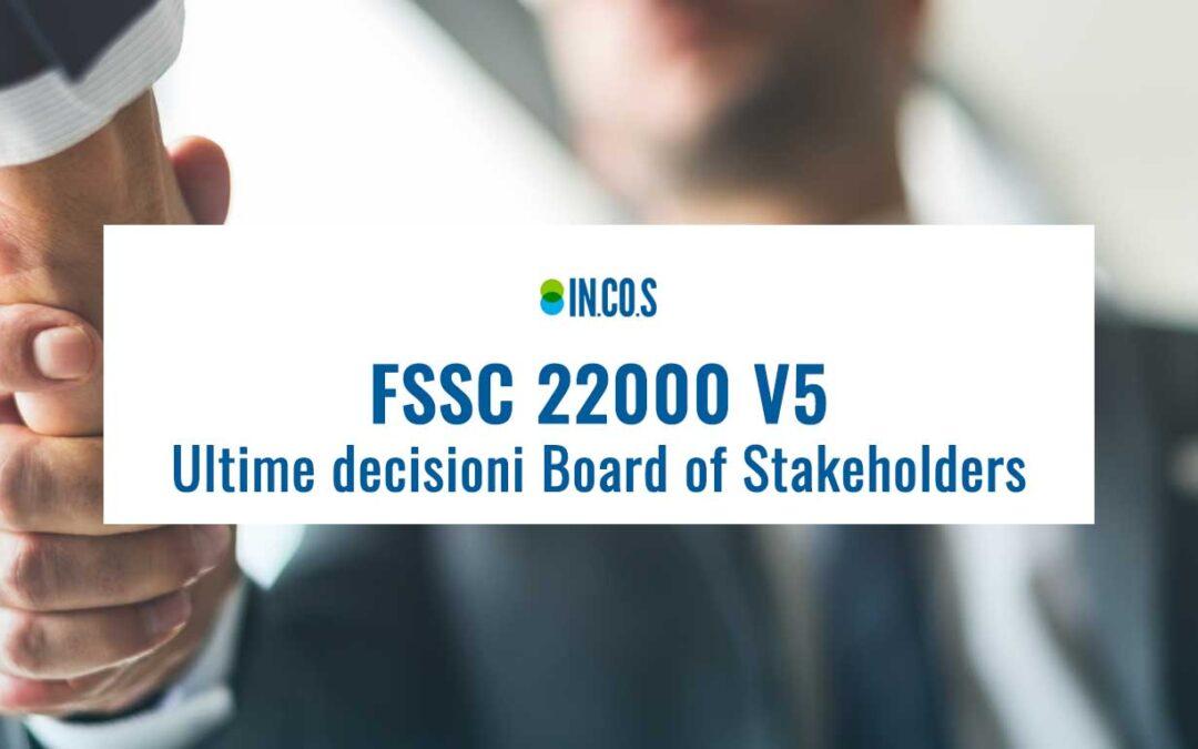 FSSC 22000: Ultime decisioni Board of Stakeholders